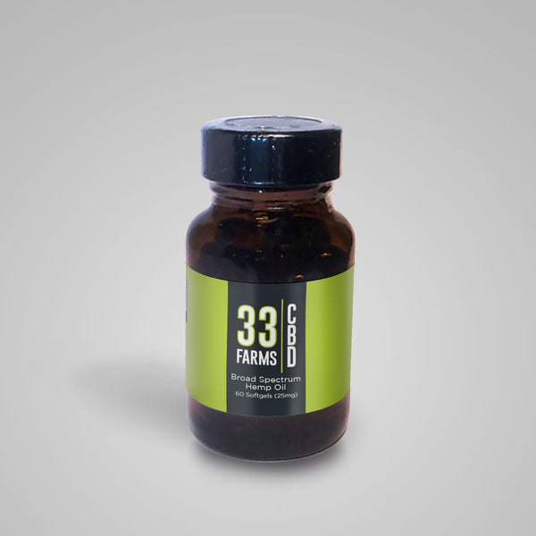 25mg CBD Softgels 60ct - 33 Supply, LLC