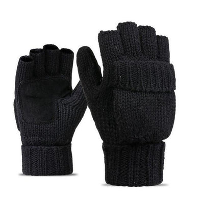 Polar Knitted Fingerless Gloves