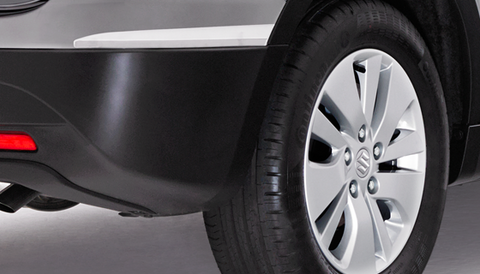 S-Cross Chrome Rear Bumper Corner Protectors