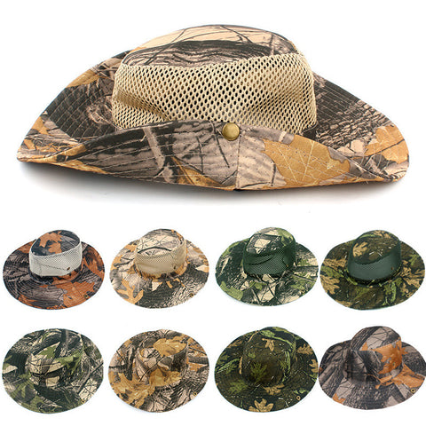 d5f636128e9 Bucket Hat Hunting Fishing Outdoor Cap Wide Brim Military Unisex Sun Camo