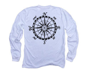 Mariner's Compass Organic Long Sleeve - White
