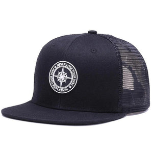 Mesh Baseball Hat w/ Compass Design