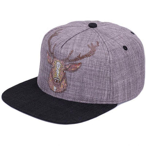 Snapback Baseball Hat w/ Deer Design