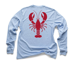 Red Lobster Organic Long Sleeve - Sky Blue