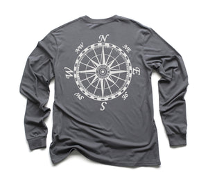 Mariner's Compass Organic Long Sleeve - Slate