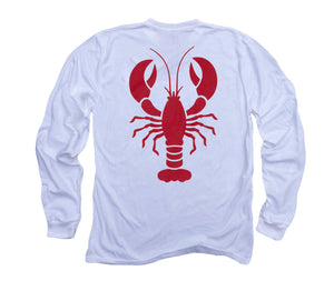 Red Lobster Organic Long Sleeve - White
