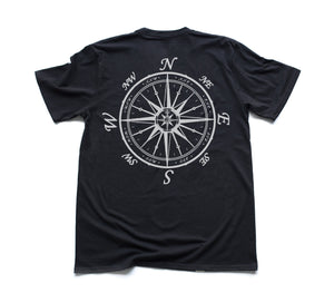 Nautical Compass Organic Short Sleeve - Black