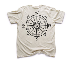 Nautical Compass Organic Short Sleeve - Natural
