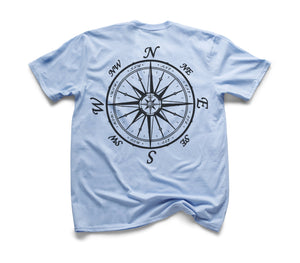 Nautical Compass Organic Short Sleeve - Sky Blue