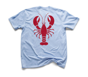 Red Lobster Organic Short Sleeve - Sky Blue