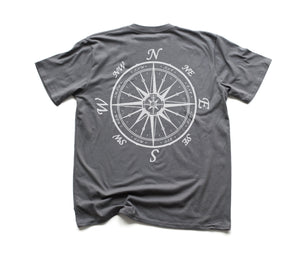 Nautical Compass Organic Short Sleeve - Slate