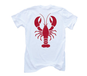 Red Lobster Organic Short Sleeve - White