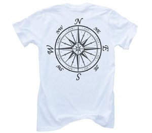 Nautical Compass Organic Short Sleeve - White