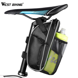 Bicycle Rear Saddle Bag w/ Bottle Holder