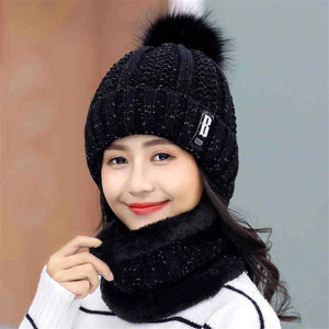 Women's Winter Beanie and Neck Warmer