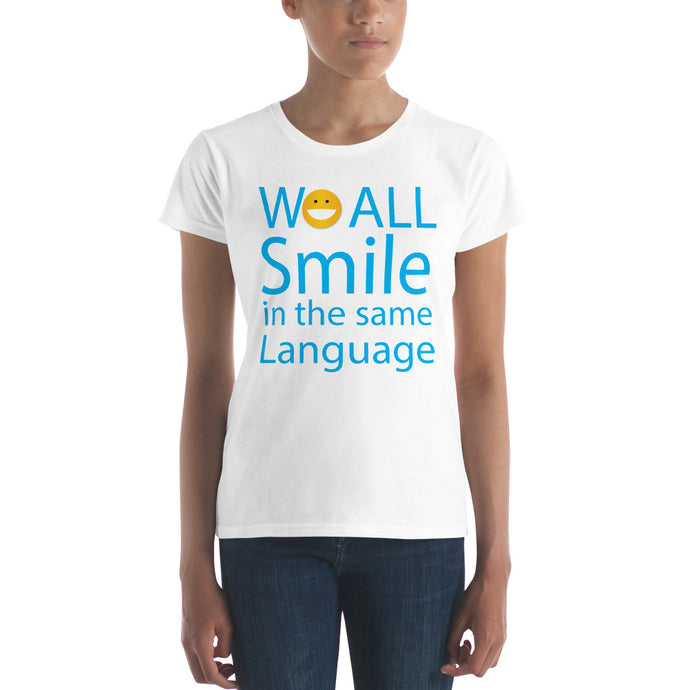 We ALL Smile Women's short sleeve t-shirt