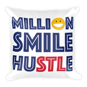 Million Smile Square Pillow