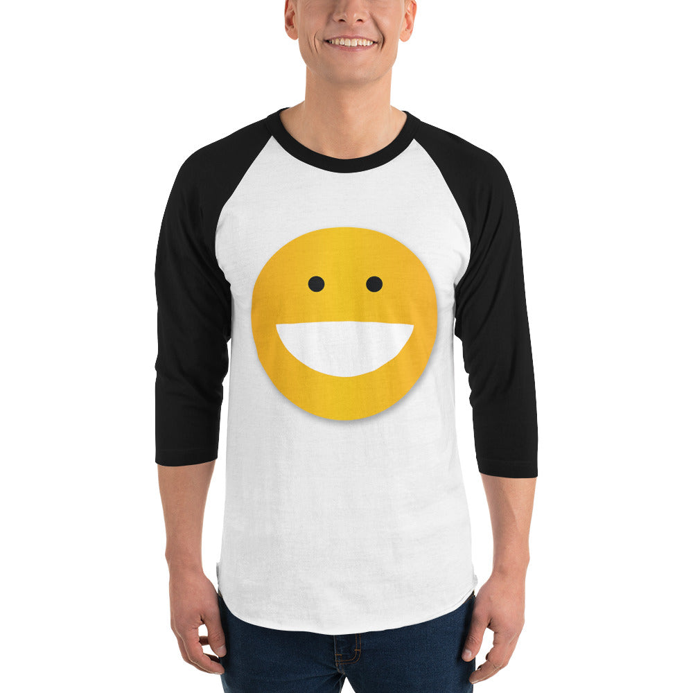 SMILEY 3/4 sleeve raglan shirt