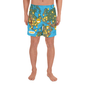 All-Over Print Men's Athletic Long Shorts