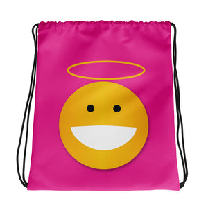 Angel Pink Drawstring bag