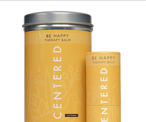 Be Happy balm in a tin