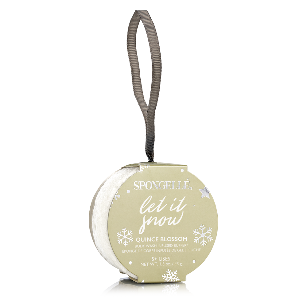 Christmas Spongellé Let it Snow Holiday Ornament