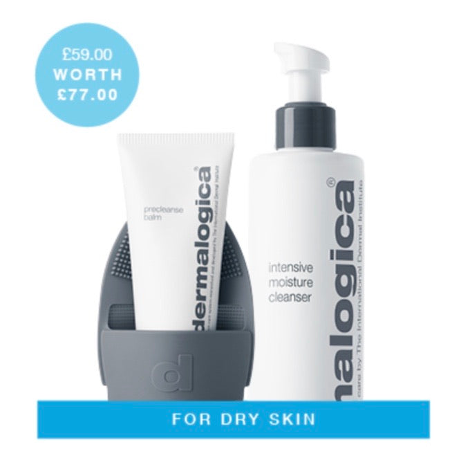 Double cleanse for dry skin