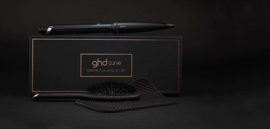 ghd curve® creative wand with oval brush & heat mat