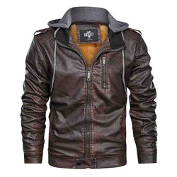 Hoodcrew Leather Outlaw Biker Jacket - HOODCREW