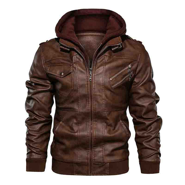Hoodcrew Leather Anarchist Jacket - HOODCREW