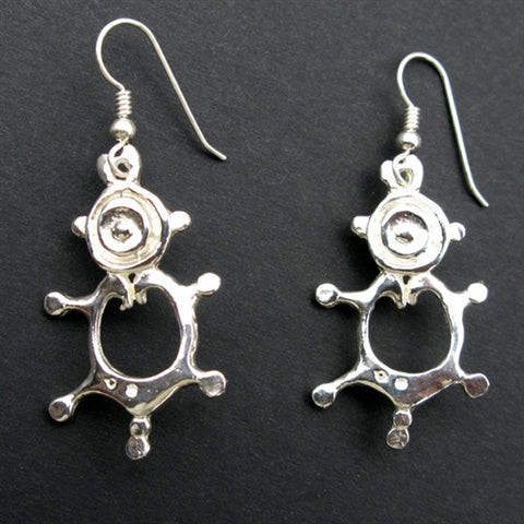 Mayan Female Energy Earrings in Sterling Silver