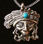 Mayan Angel Pendant in Sterling Silver