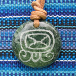 Mayan Sun Sign Pendants in Jade