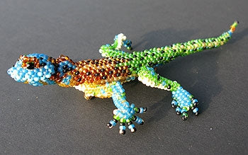 Gecko Pin - Beaded Animal by Jose Reanda