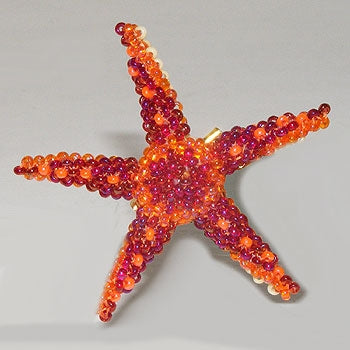 Starfish Pin - Beaded Animal by Jose Reanda