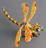 Dragonfly Pin - Beaded Animal by Jose Reanda