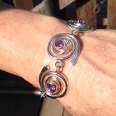 Vortex Bracelet in Sterling Silver