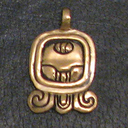 Mayan Sun Sign Pendants in Bronze