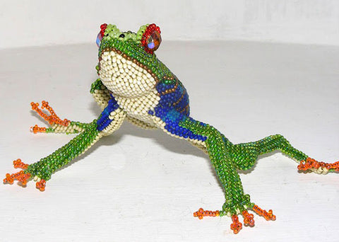 Frog - Beaded Animal by Jose Reanda