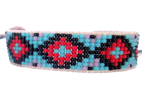 Huichol Native American Inspired Beaded Bracelet - Design B
