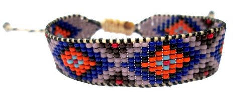 Huichol Native American Inspired Beaded Bracelet - Design C