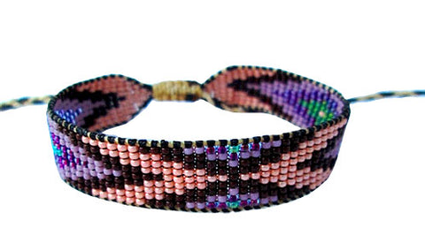 Huichol Native American Inspired Beaded Bracelet - Design F