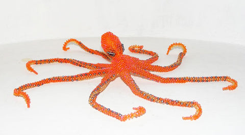 Octopus - Beaded Animal by Jose Reanda