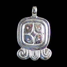 Mayan Sun Sign Pendants in Silver