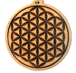 Flower of Life Pendants in Wood