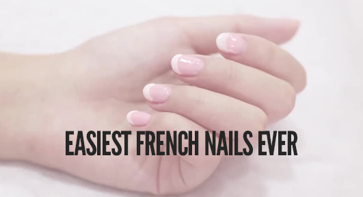 Easiest French Manicure Nails using Dipping Powder