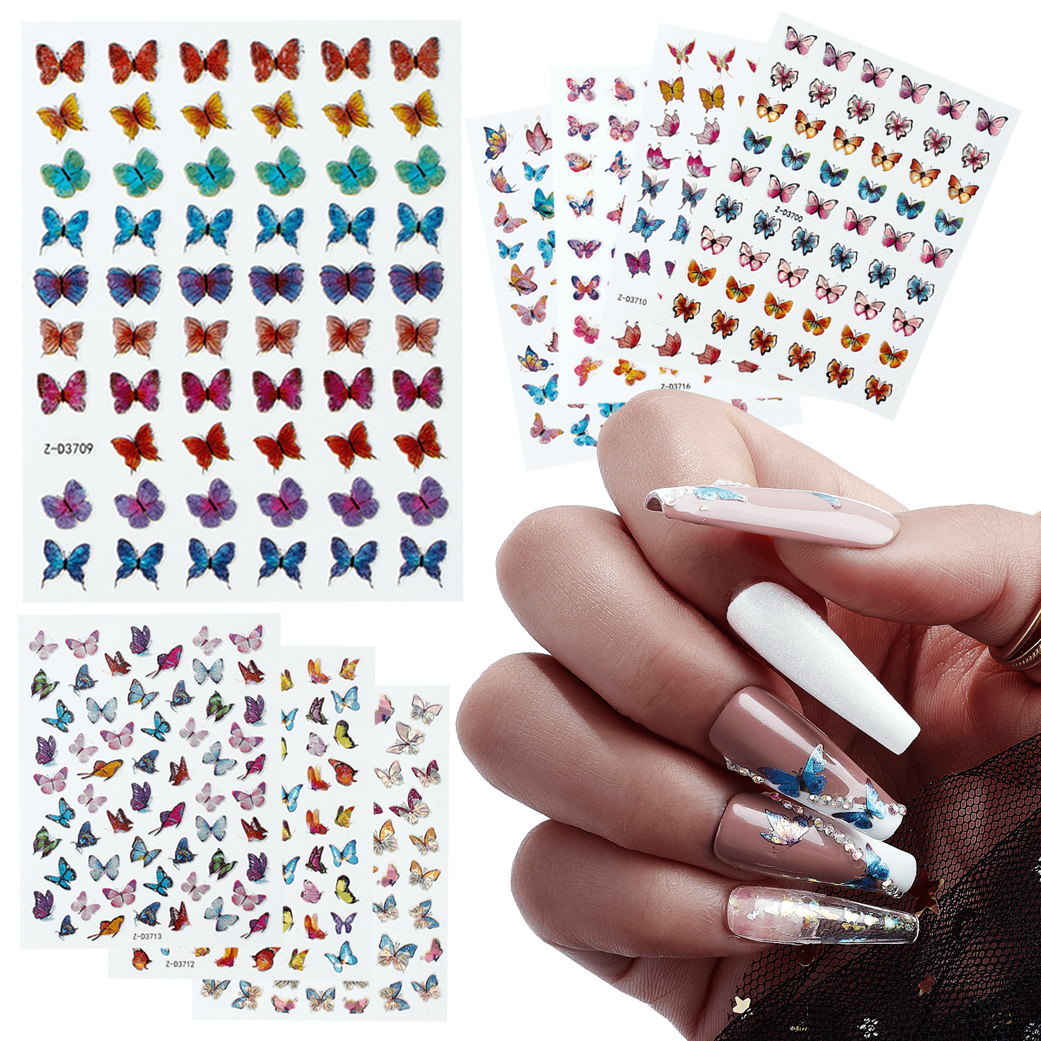 Mariposa Mayhem Nail Decal Pack