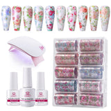 All-In-One Nail Art Foil Glue Set - Makartt