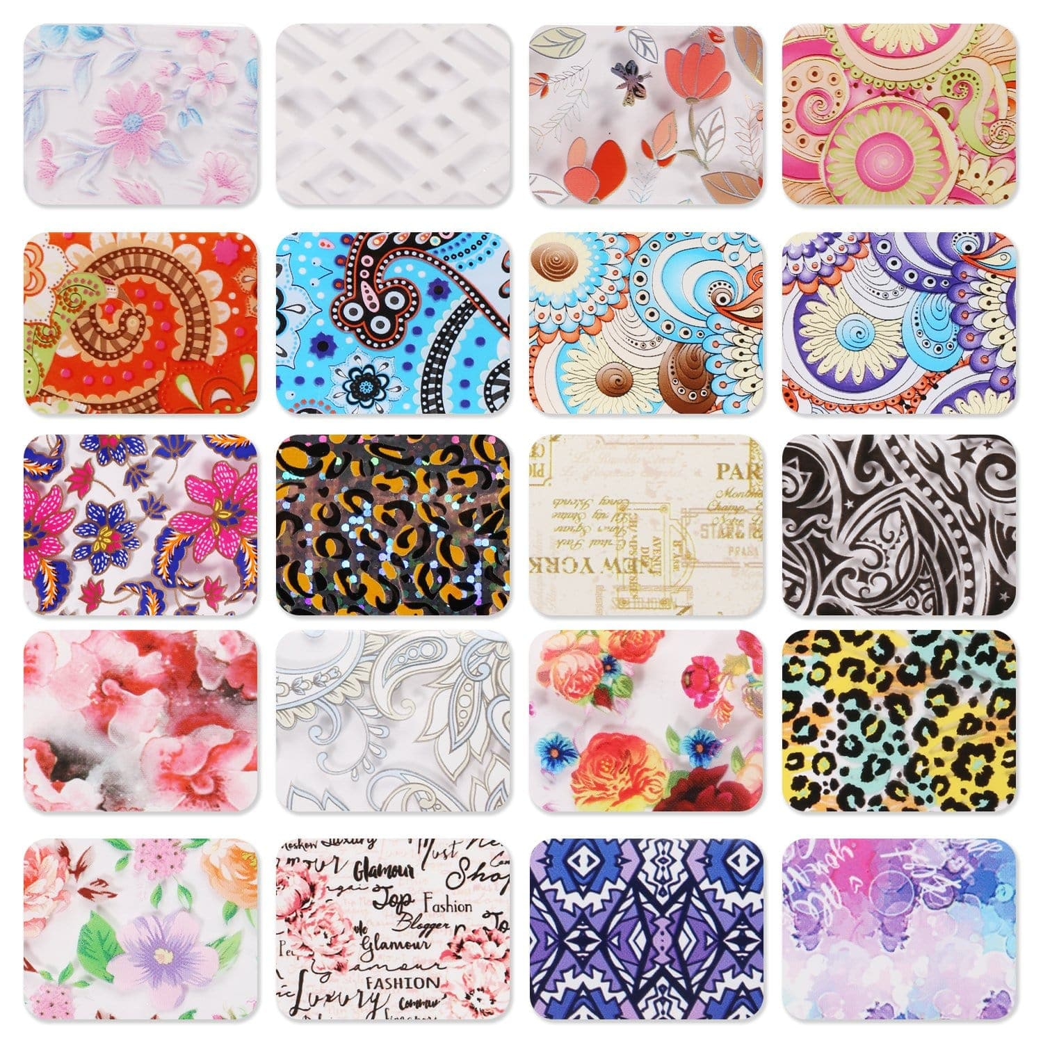 Exotic Charm Nail Art Foil Glue Gel and Mixed Style Nail Foil Stickers