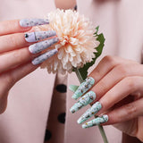 Nail Art Foil Glue Gel with Flower Nail Foil Stickers Set